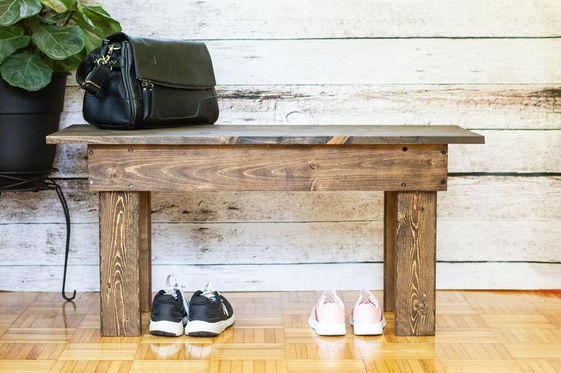 Entryway Bench In 2020 Solid Wood Benches Wood Bench Wood Decor