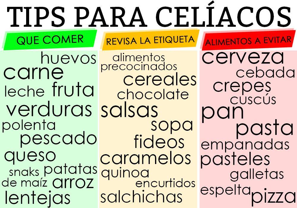 Algunos consejos r pidos para cel acos celiaquia alimentacion salud pinterest m s - Alimentos sin gluten para celiacos ...