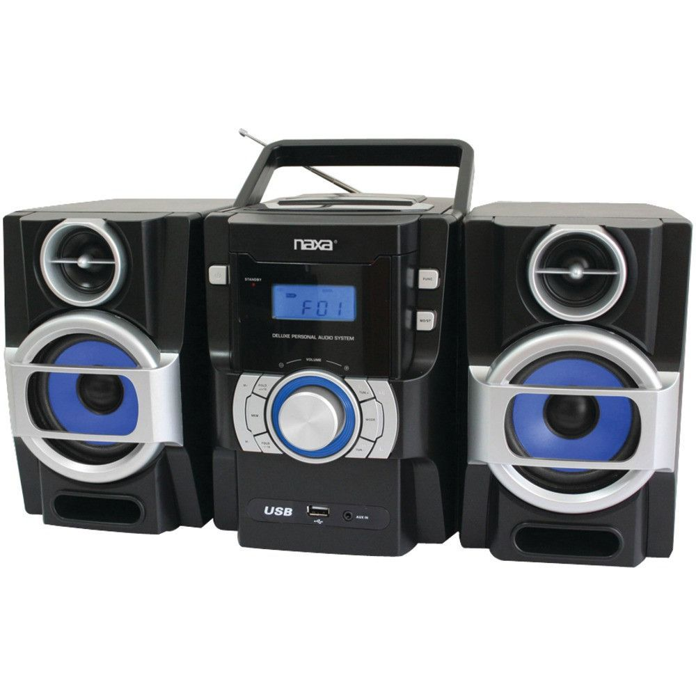 PORTABLE CD//MP3 PLAYER AC//DC AM//FM RADIO CASSETTE RECORDER REMOTE w//DUAL VOLTAGE