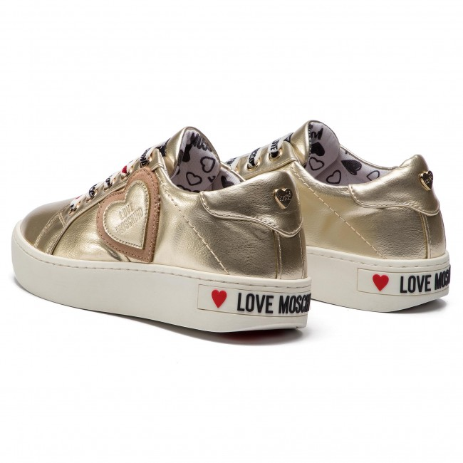 Sneakersy Love Moschino Ja15133g17ic0900 Platin Sneakersy Polbuty Damskie Eobuwie Pl Sneakers Shoes Golden Goose Sneaker