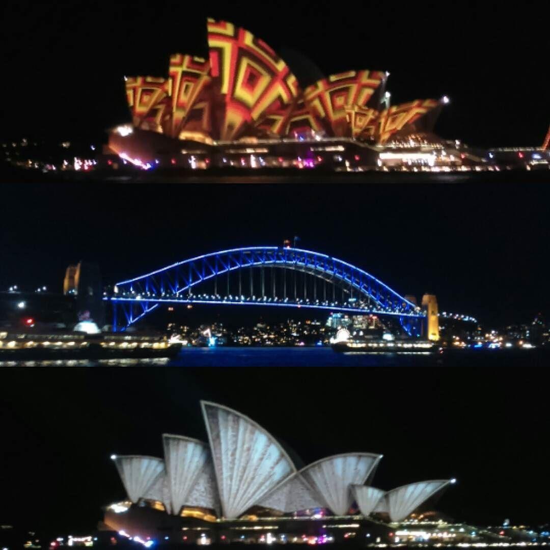 VividFestival Sydney 2016... Lichtjes lichtjes lichtjes... Was gezellig  #sydney #sydneyoperahouse #sydneyharbourbridge #vividsydney #hetiseeneindjevliegen by gewoonessi http://ift.tt/1NRMbNv