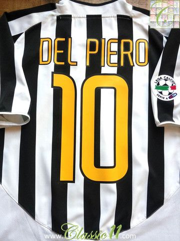 the latest 5c95c e689c 2003/04 Juventus Home Serie A Football Shirt Del Piero #10 ...