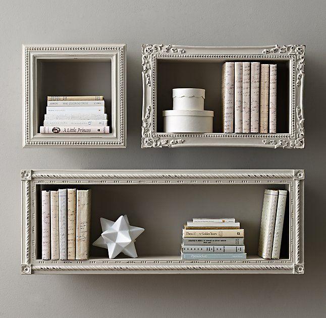 Vintage Hand Carved Display Shelf Antique Grey Floating Shelves Living Room Display Shelves Wood Floating Shelves