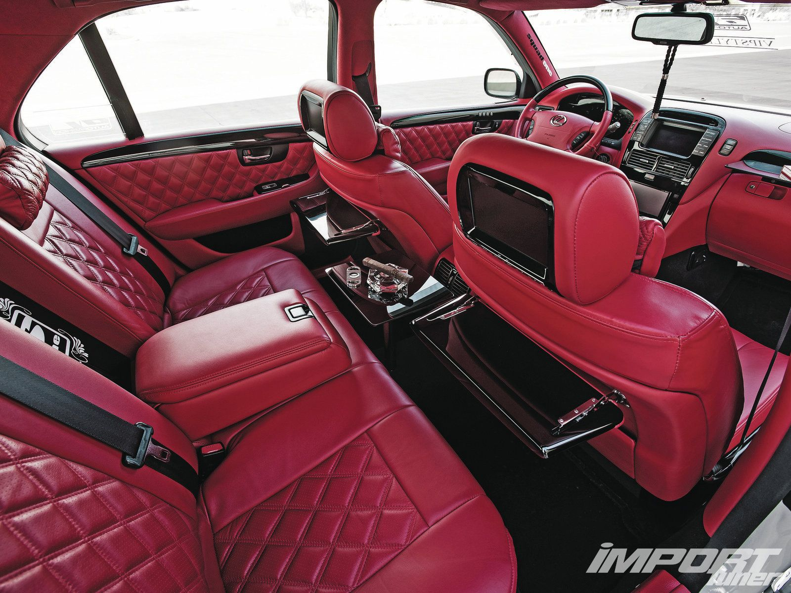 Red Vip Style Car Interior