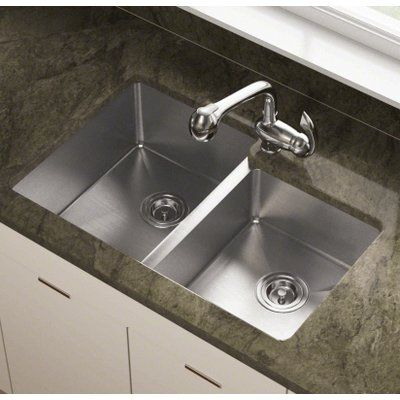 Polaris Sinks 31 25 L X 20 5 W Double Undermount Kitchen Sink Sink Double Bowl Kitchen Sink Stainless Steel Kitchen