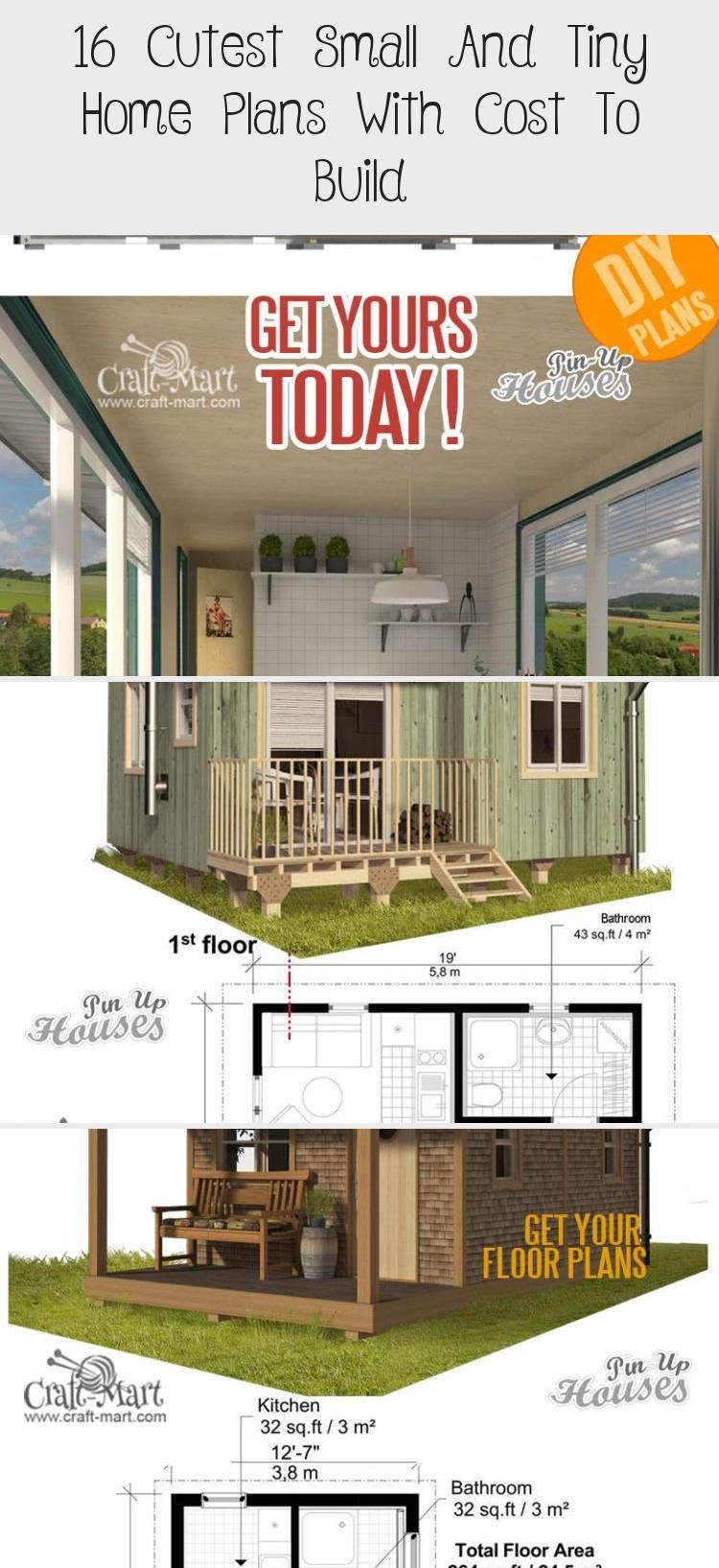 16 Cutest Small And Tiny Home Plans With Cost To Build Tiny House Plans House Plans Tiny Houses Canada
