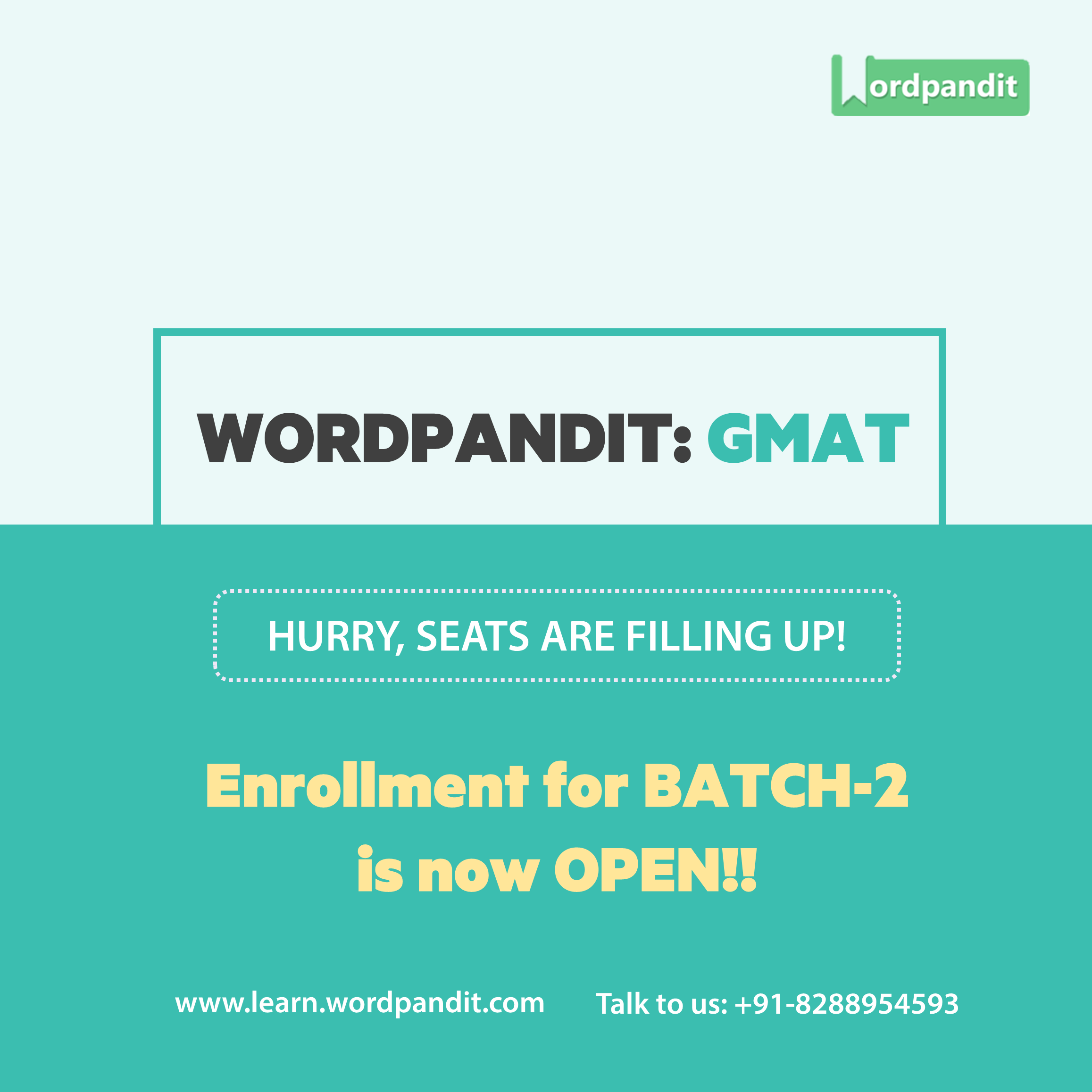 Enrollment For Gmat Batch 2 Is Now Open Need Help To Enroll For The Course Please Feel Free To Reach Out To Us 91 82 In 2020 Gmat Reading Comprehension Vocabulary
