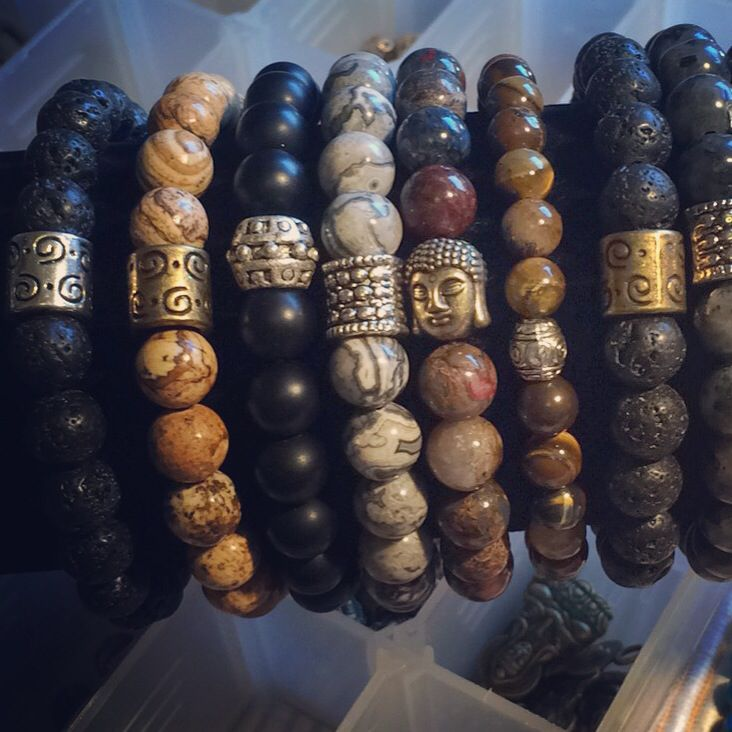 408cd6afdeb6 Mens bracelets! Hermosas pulseras pensadas para hombres! Piedras ...