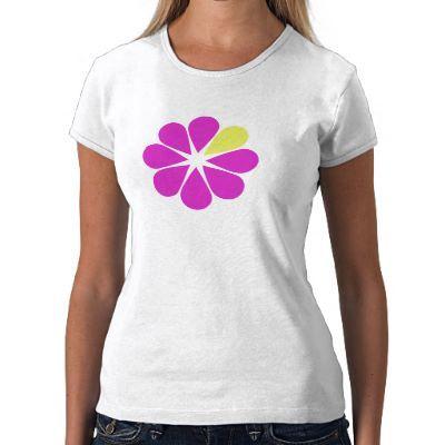 My logo on a t-shirt! Be Web Smart Flower logo t-shirt.