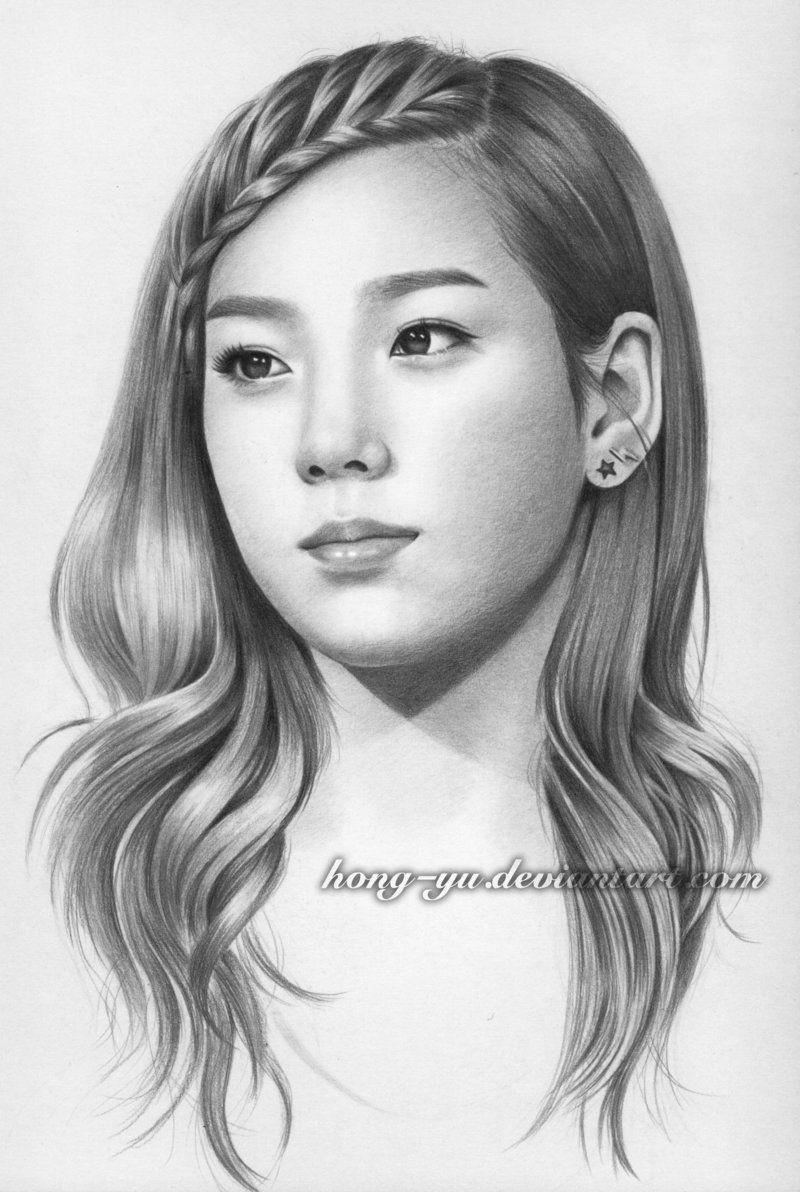 Kim Tae Yeon By Hong Yu On Deviantart Portrait Kim Tae Yeon Art