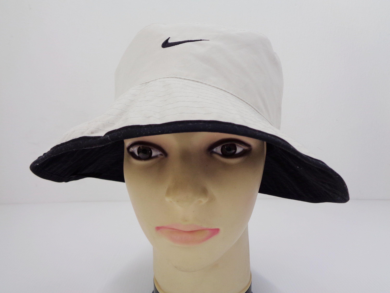 Nike Hat Vintage Nike Bucket Hat Vintage Nike Golf Vintage Embroidery Logo Bucket Hat Cap Hats Vintage Nike Hat Vintage Nike