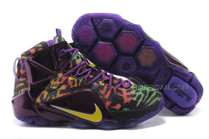 2015 Newest Nike Lebron 12 Purple Leopard Print Black Yellow Cheap Online,  Price: - Air Jordan Shoes, New Jordan Shoes, Michael Jordan Shoes