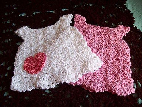 crochet baby dress - vestido a crochet para bebé