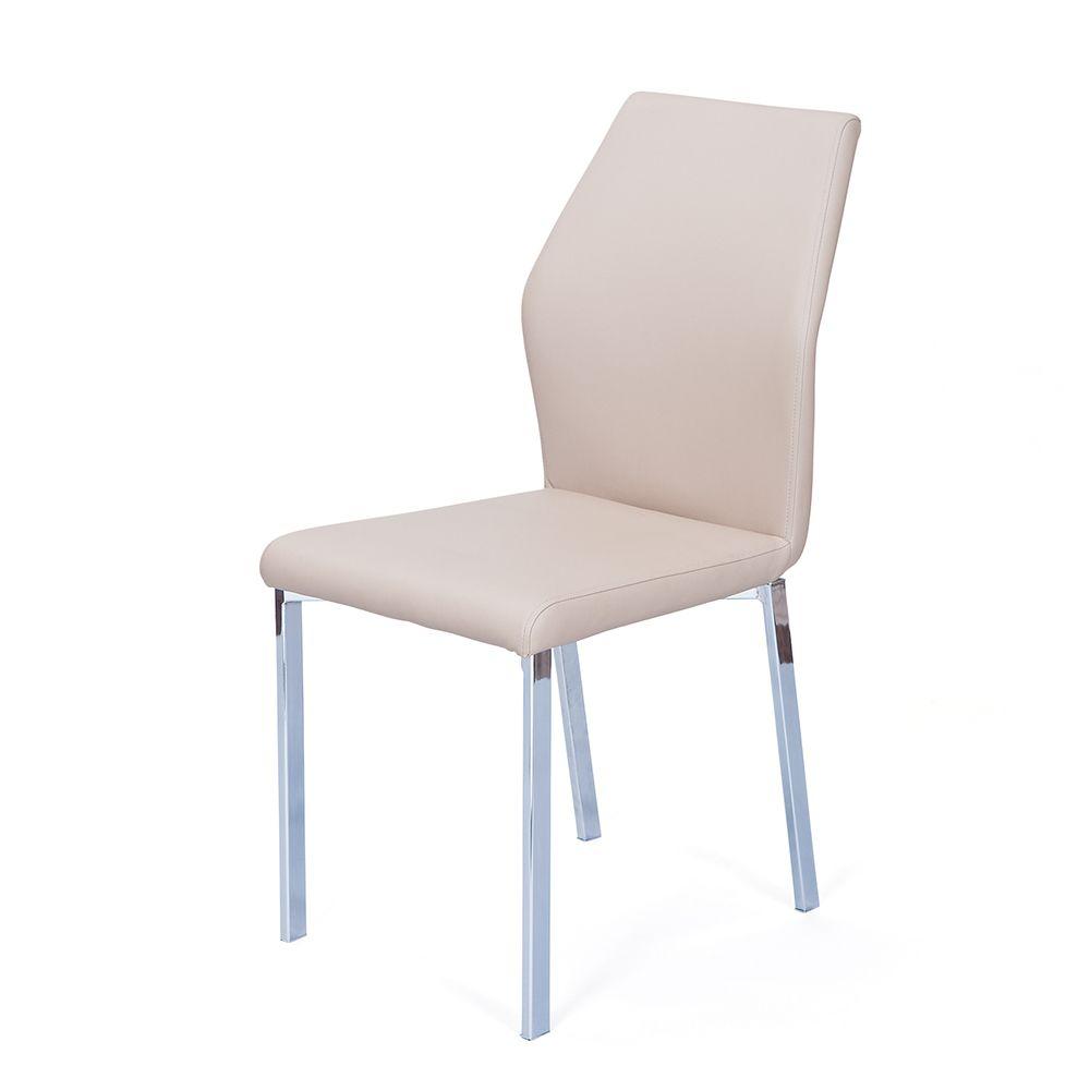 Hochwertig Stuhl Set In Beige Stahl Verchromt (4er Set) Jetzt Bestellen Unter:  Https://moebel.ladendirekt.de/kueche Und Esszimmer/stuehle Und Hocker/esszimmerstuehle/?  ...