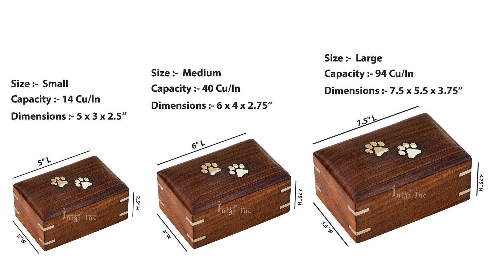 Handcrafted wooden cremation urn for ashes pet urns for