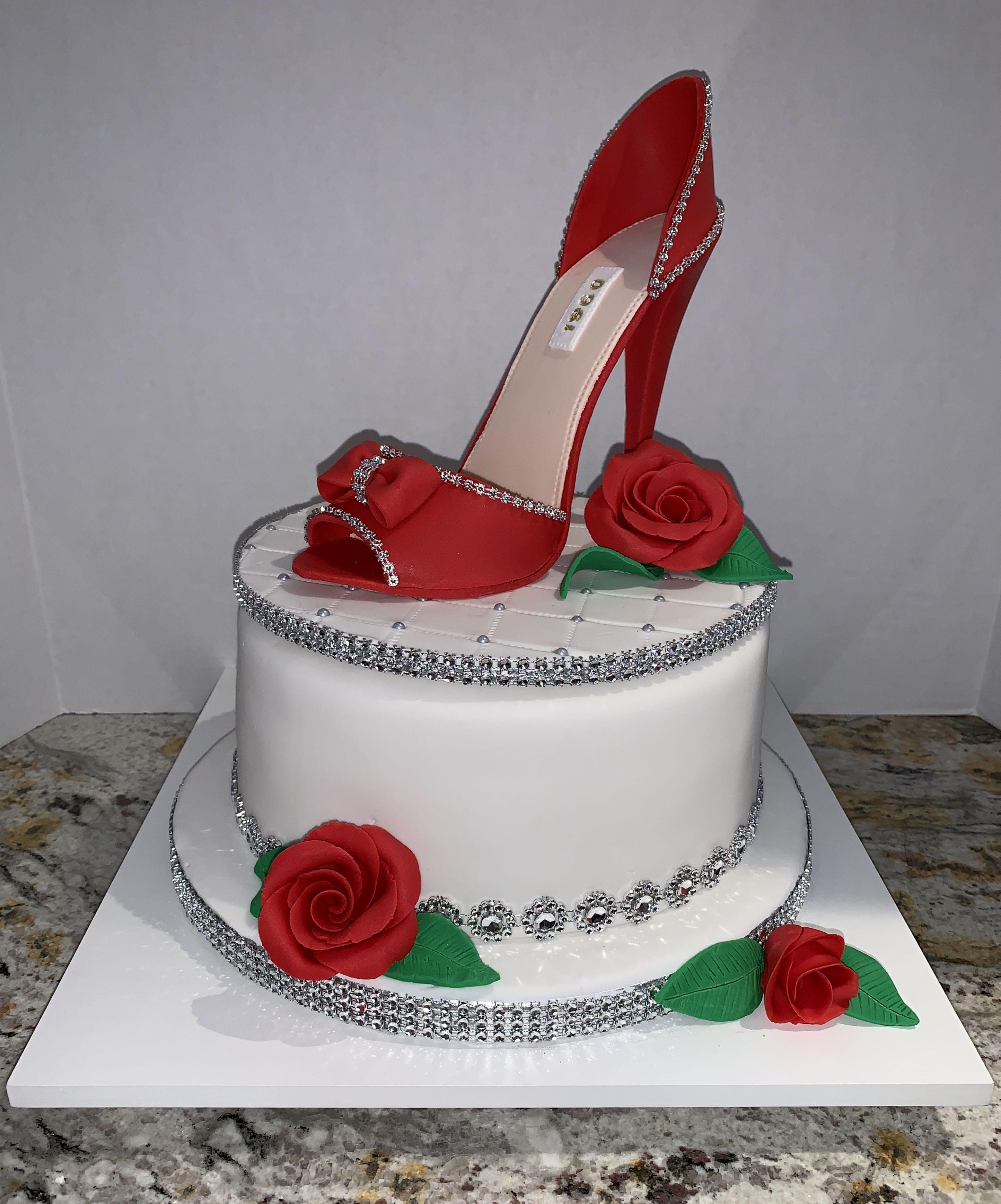 Fondant High Heel Shoe Cake Source by 483groupinc #stiletto
