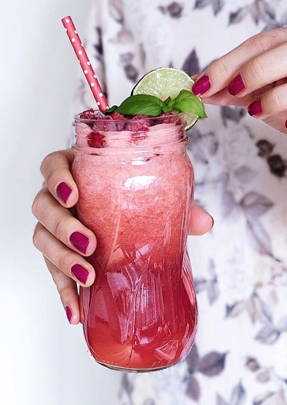 refreshing raspberry coconut water ... | Healthy Cocktails in 2018 ...