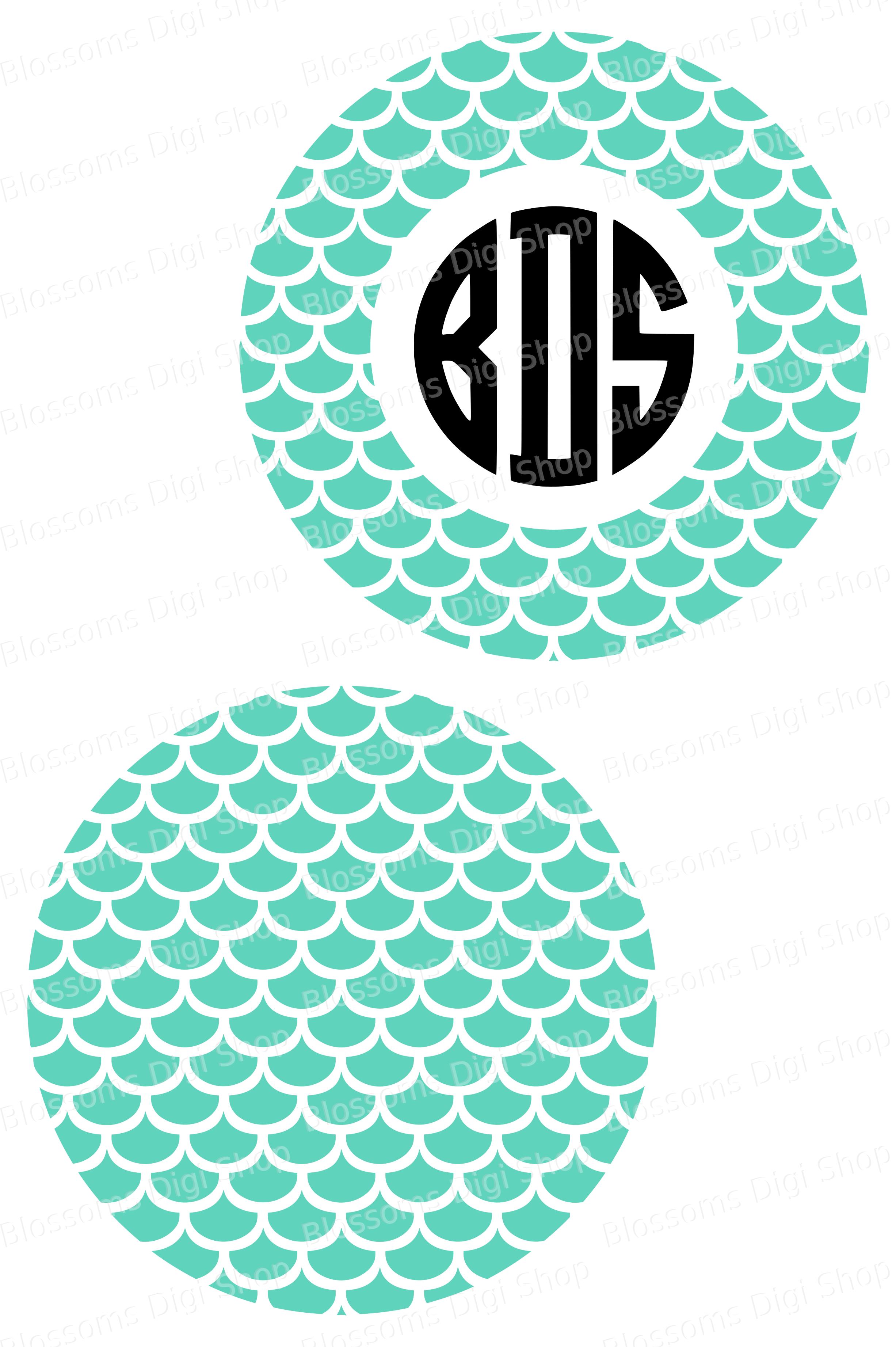 Monogram Mermaid Svg : monogram, mermaid, Files