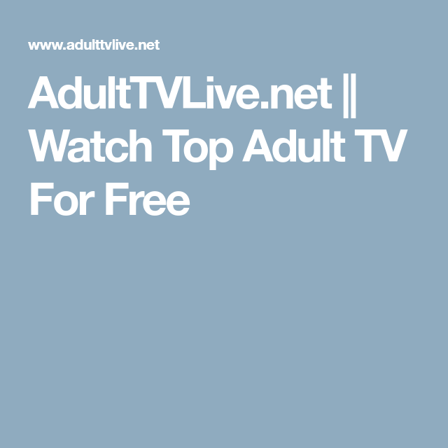 Net tv adult