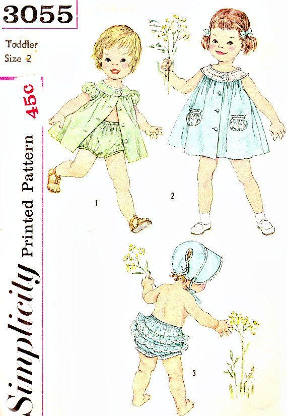 Vintage 50\'s Toddlers Pattern Size 2 Round by VintageNeedleFinds ...