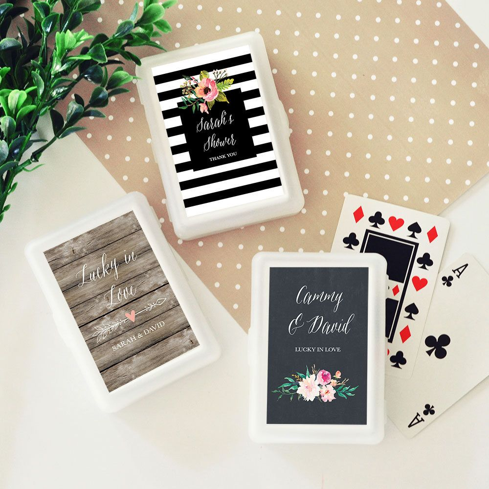 personalized playing card sets wedding playing cards deck