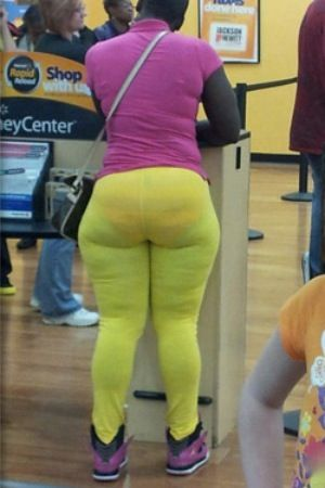 108b7689d944 Tight Yellow Leggings and Underwear - Stay Classy People of Walmart - Fail  - Funny Pictures at Walmart