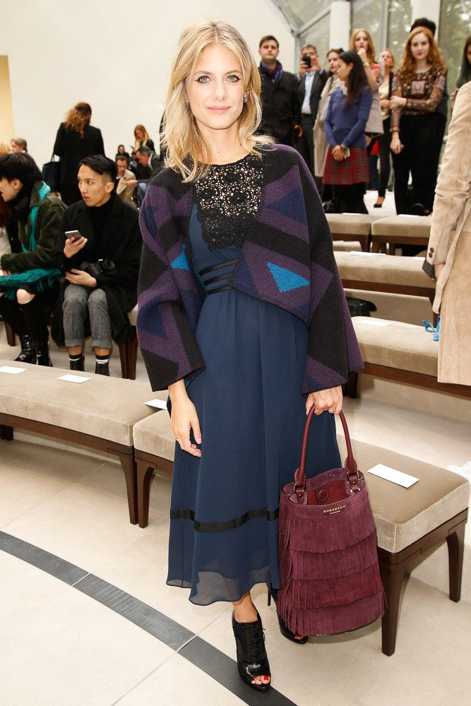 Melanie Laurent in the front row at Burberry Spring 2016