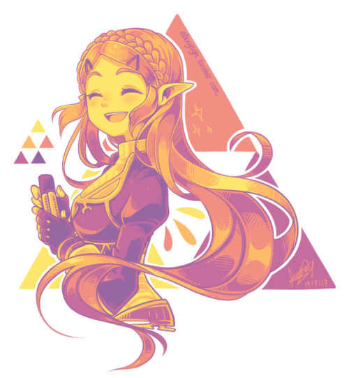 Cute Princess Zelda And Triforce Drawing Legend Of Zelda