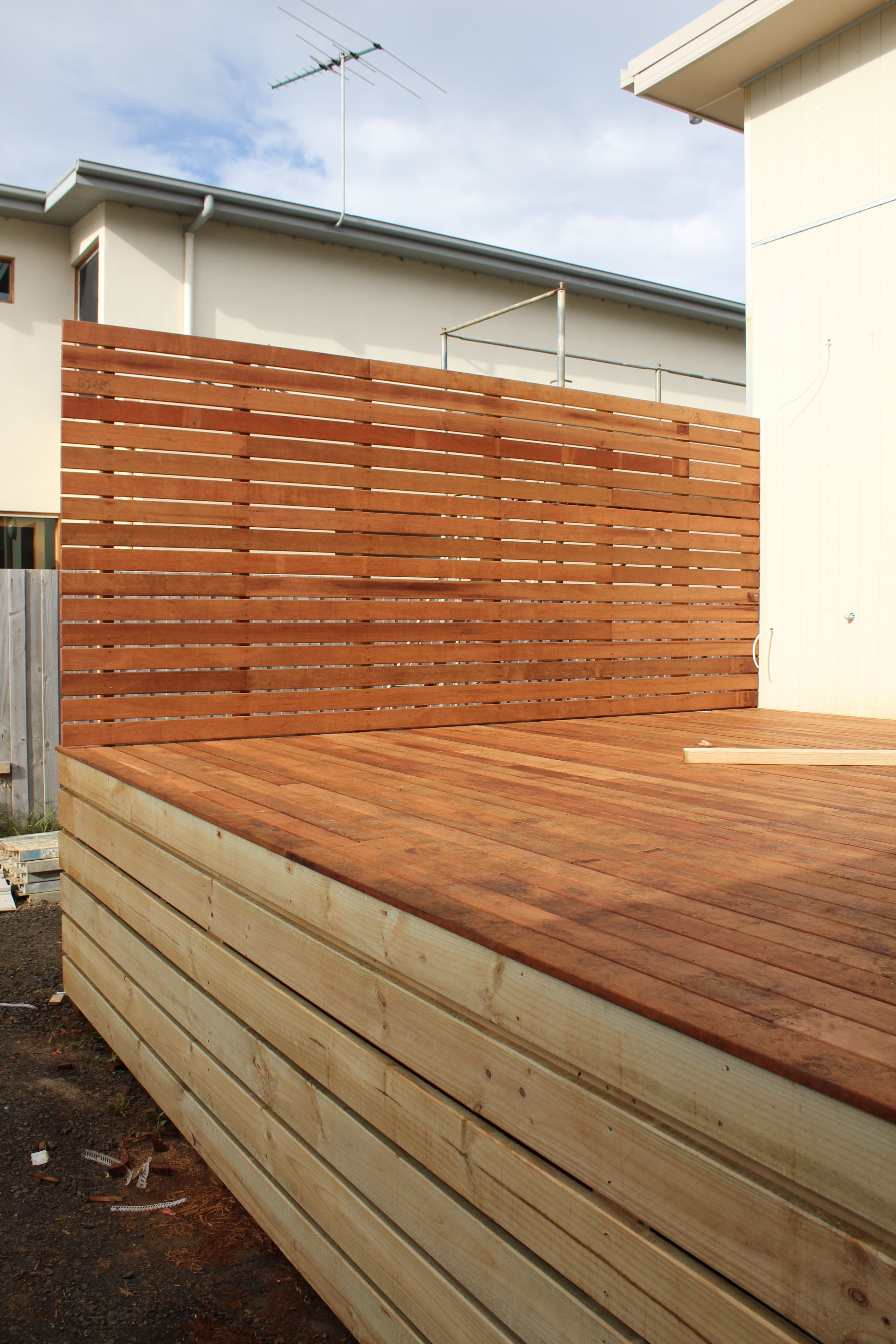 Privacy screen privacy screens pinterest screens for Wood deck privacy panels