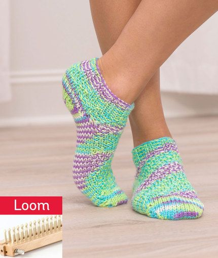 Shorty Socks Free Loom Knitting Pattern Lm5368 Minden Pinterest
