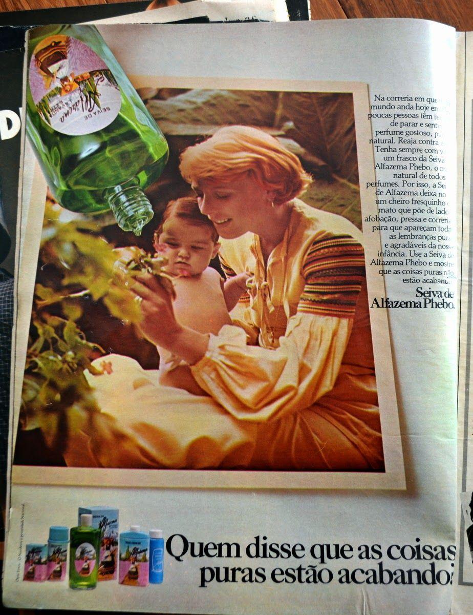 Lavanda Seiva de Alfazema da Phebo propaganda revista Claudia de 1977 divulgação da linha Phebo com talco e colonias: