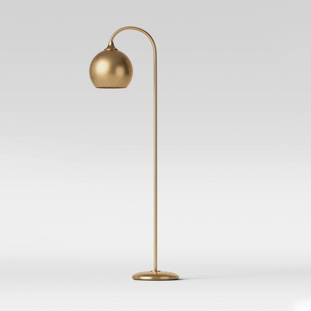 Floor Lamps Gold Includes Led Light Bulb Opalhouse In 2020 Gold Floor Lamp Lamp Floor Lamp