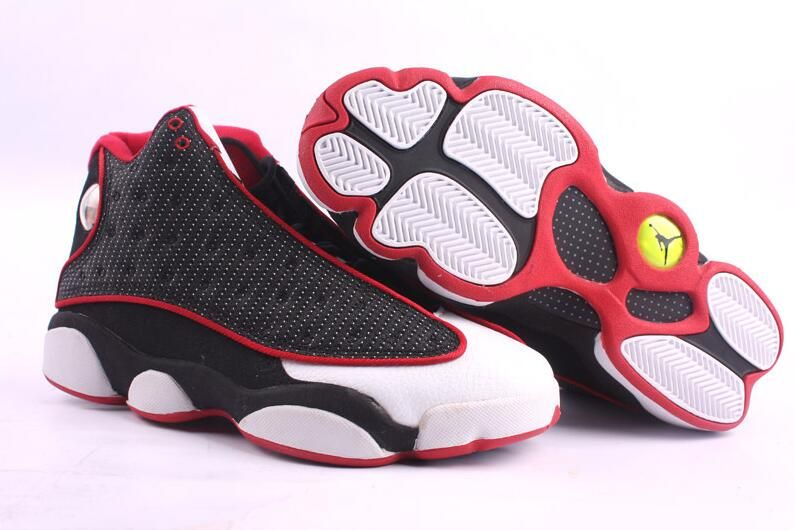 Air Jordan 13 White Black Red Basketball Shoes1  440d671ed1