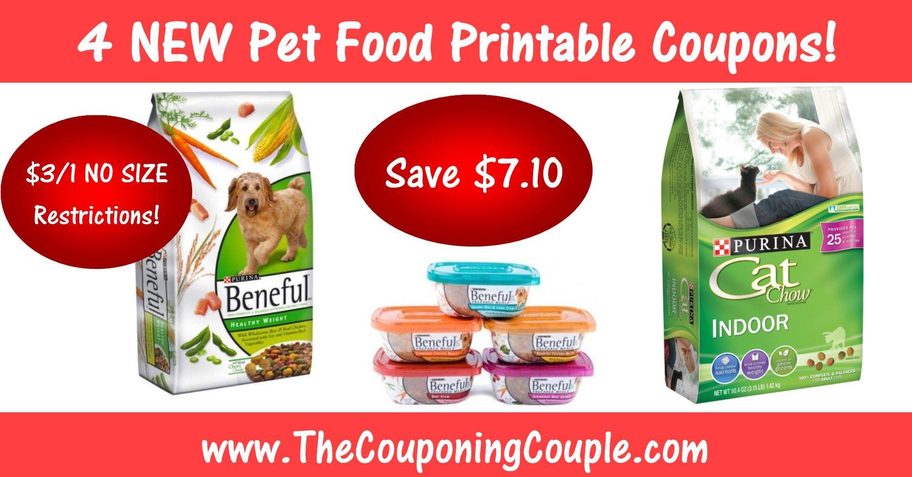 Hot Purina Pet Food Coupons 3 1 Beneful No Size Restrictions Food Coupon Food Animals Purina Coupons