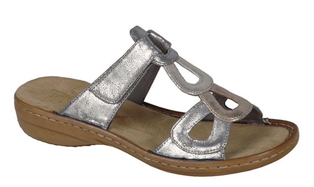 Sandal Touch Ladies Open Mule Rieker Toe 608r4 Fastening TFKJl1c