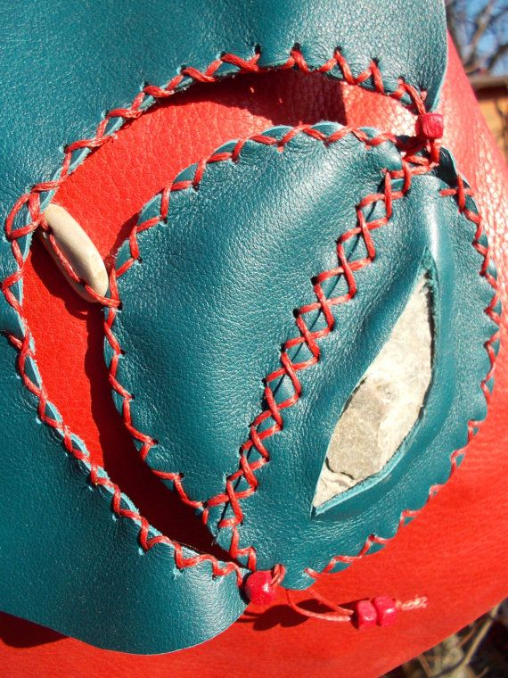 borsa di pelle fatta a mano Marte di LunAriacreazioni su Etsy