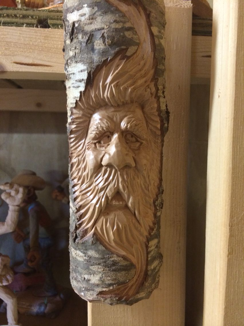 Wood spirit carved in cherry by dwayne gosnell