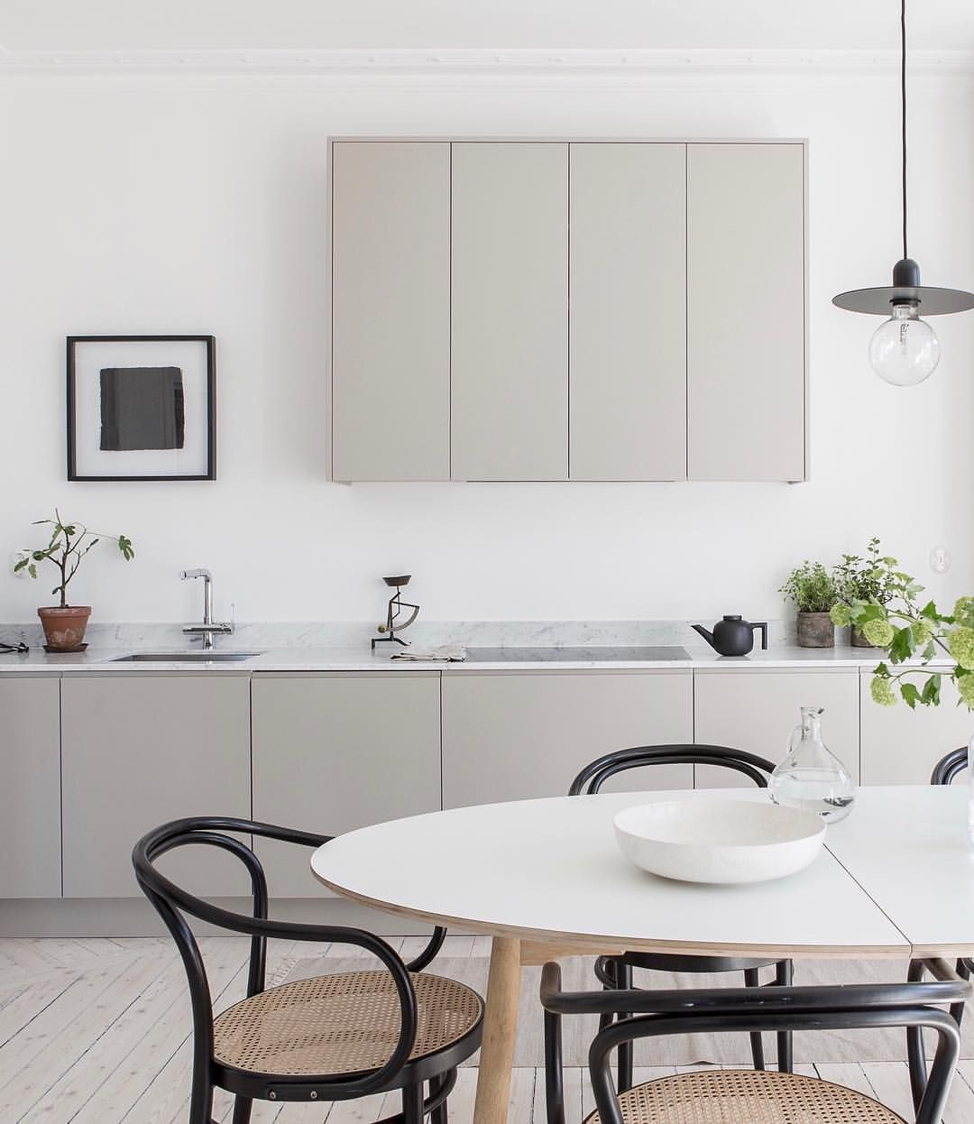 Scandinavian Kitchens Find Your Style Here: Light Grey Minimalist Kitchen, Made By Us. Follow Us On