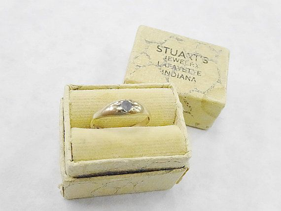 Sweet Antique 10K Gold Baby Ring In Presentation by nickelnotions