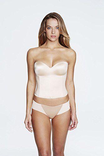 72e570fd79 Dominique Longline Smooth Strapless Bra (32C Nude)