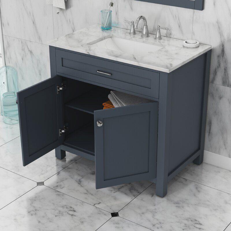 Cecilton 36 Single Bathroom Vanity Set In 2021 Single Bathroom Vanity Marble Vanity Tops Vanity