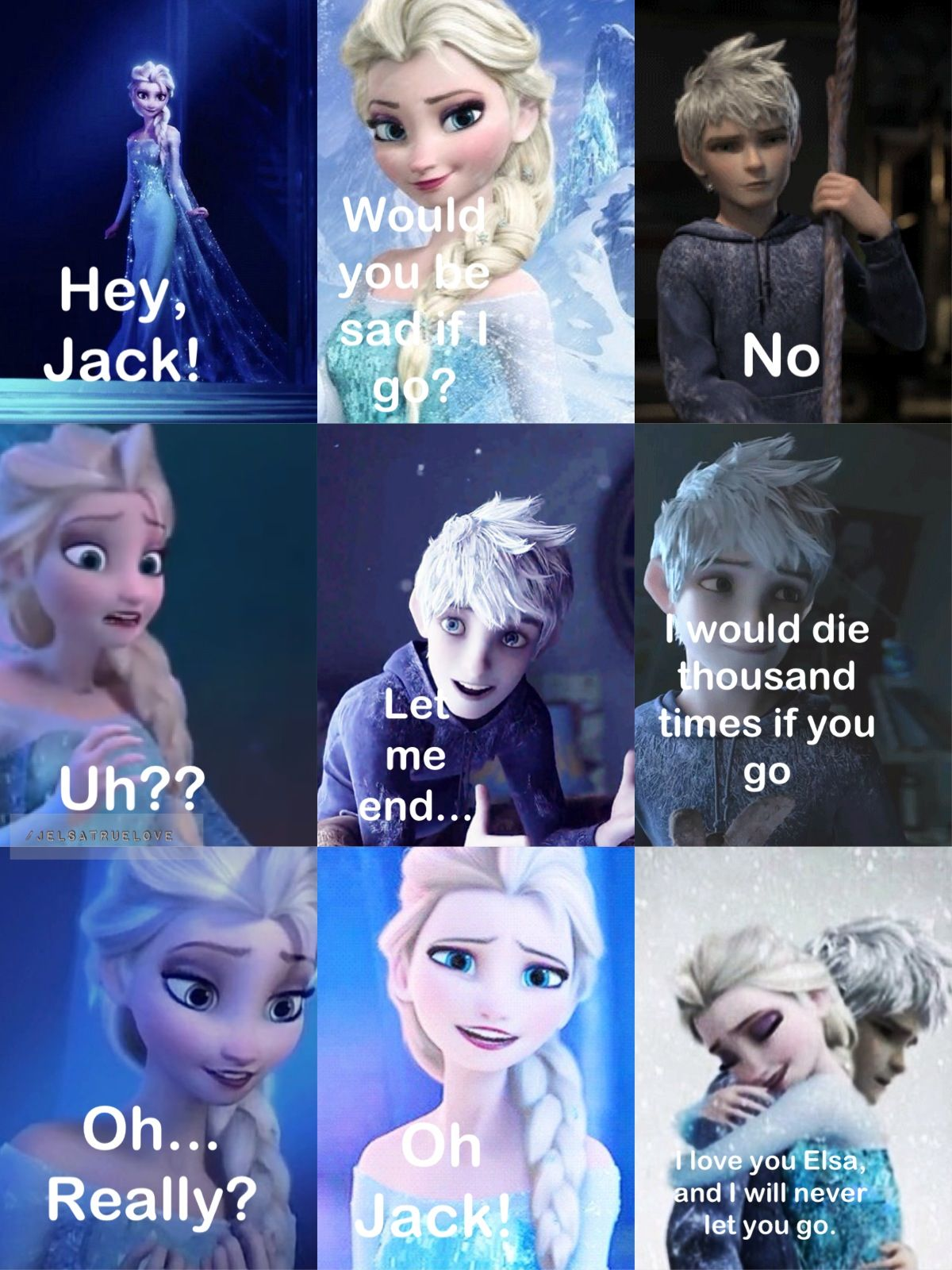 Jelsa's relationship. Jack and Elsa are ADSGAGGAHAGASSFSK SWEET