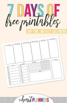 Printable Weekly Calendar  Weather Tracking Printable Weekly