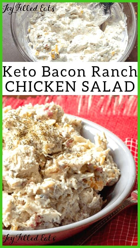 My Bacon Ranch Keto Chicken Salad is packed with flavor It is rich 038 creamy with cheddar bacon 03