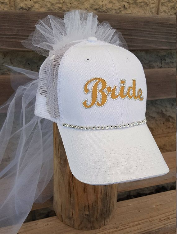 Rhinestone Bride Hat Sunflower Yellow Bride Hat And Veil Etsy Bachelorette Party Hat Bride Hat Bridal Bachelorette Party