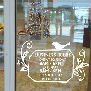 SO Much Nicer Than Those Horrid Plastic Signs Many Consignment - Window stickers for business hours