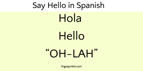 10 Ways To Say Hello In Spanish Listen To The Audio Say Hello In Spanish Hello In Spanish Learning Spanish