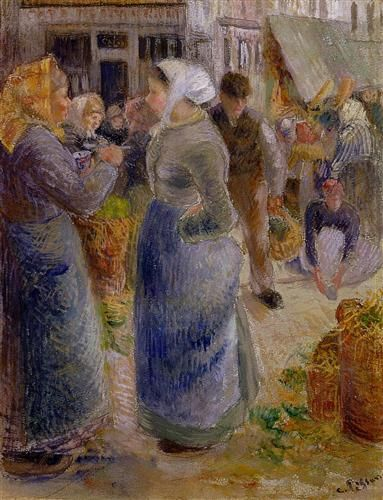 The Market - Camille Pissarro 1883
