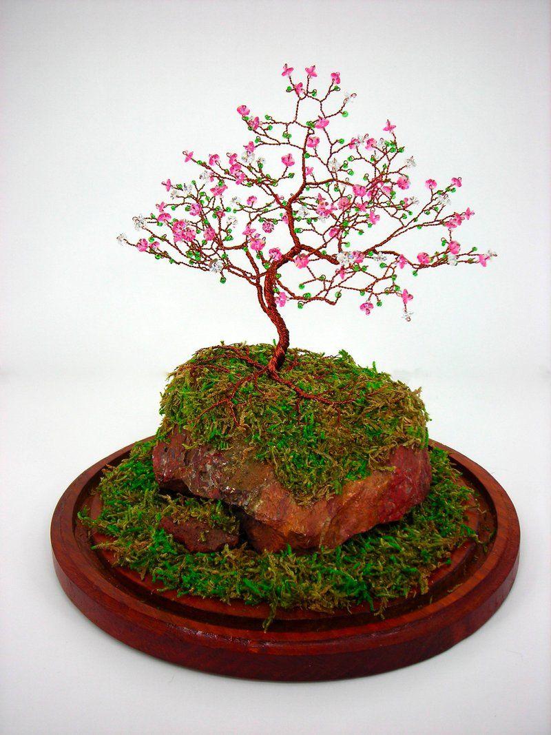 Swarovski Cherry Blossom Tree Cherry Blossom Tree Wire Tree Sculpture Fairy Garden Crafts