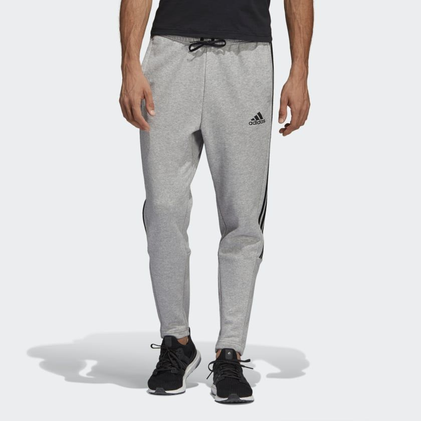 adc3ca11e Must Haves 3-Stripes Tiro Pants Medium Grey Heather / Black DQ1443